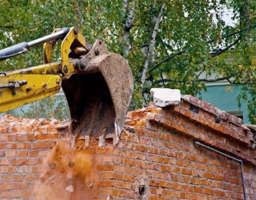Събаряне на сгради и помещения